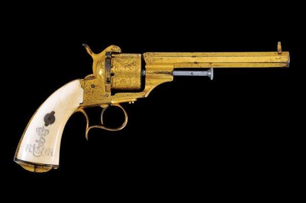 20: A 1858 model navy pin-fire revolver