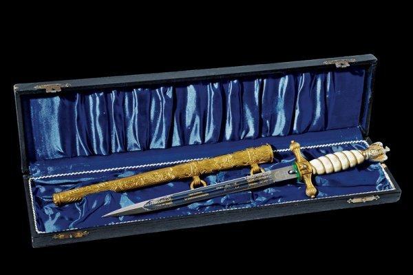 66: A navy officer's presentation dagger