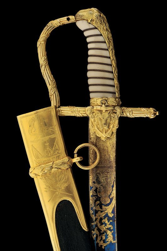 700: An honour sabre given to Commander Thomas Musgrave - 3