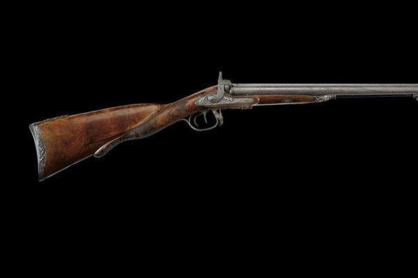 18: An important percussion double barrelled shotgun