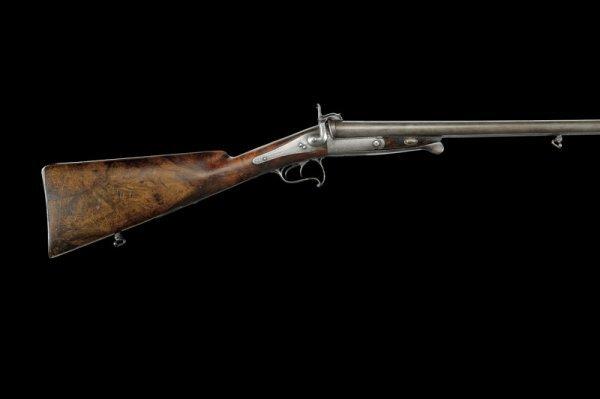 24: A pin-fire double barrelled shotgun