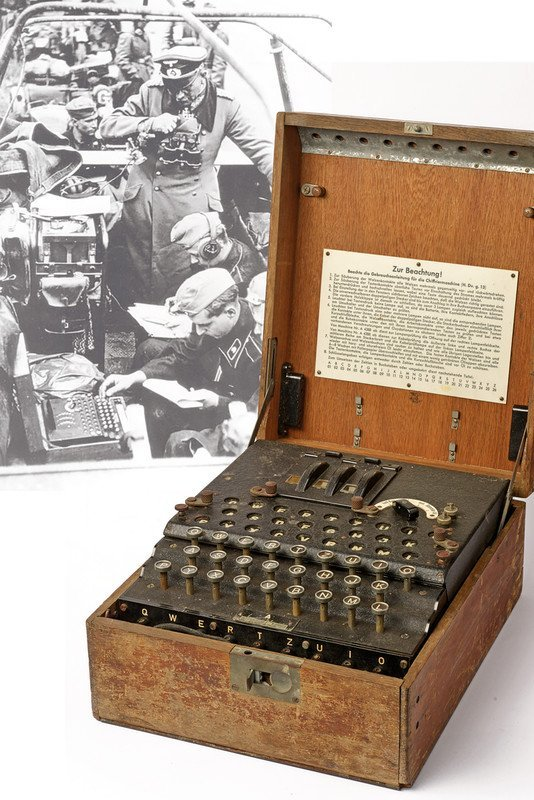 An extremely rare Enigma I chiper machine