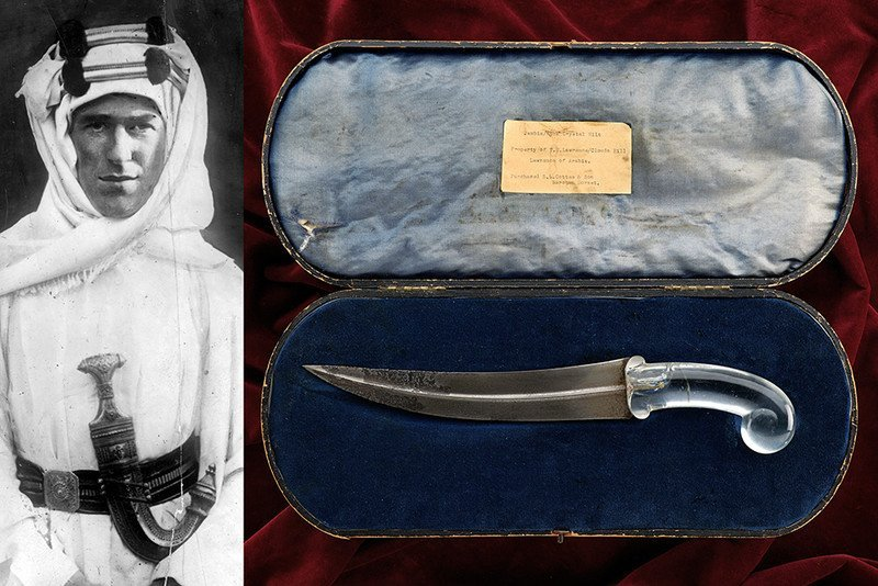 A rock crystal hilted kandshar from Lawrence of Arabia