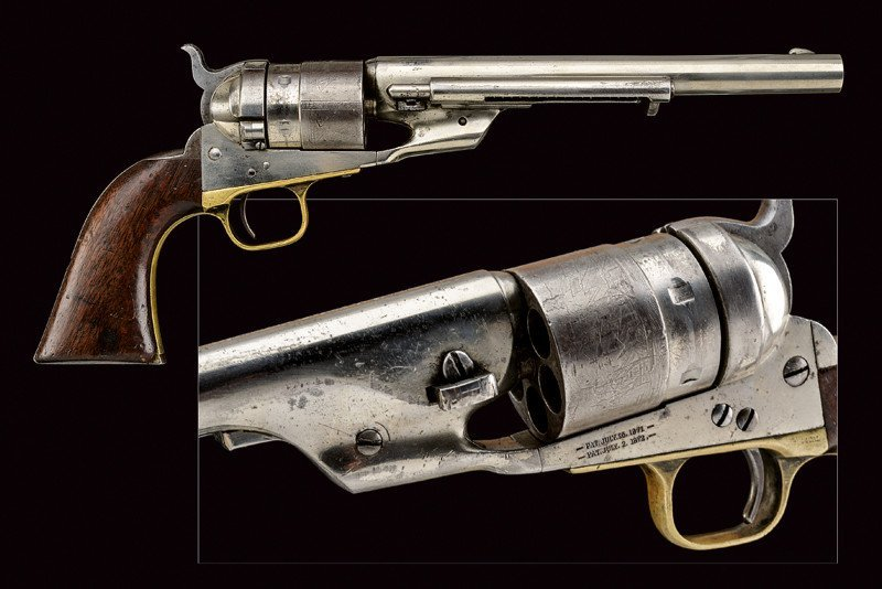 A rare Richard Conversion Colt 1860 model Army revolver