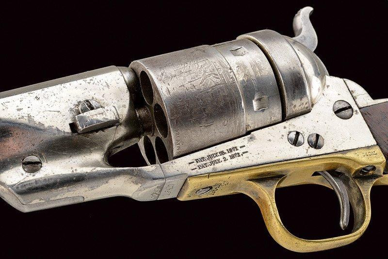 A rare Richard Conversion Colt 1860 model Army revolver - 6