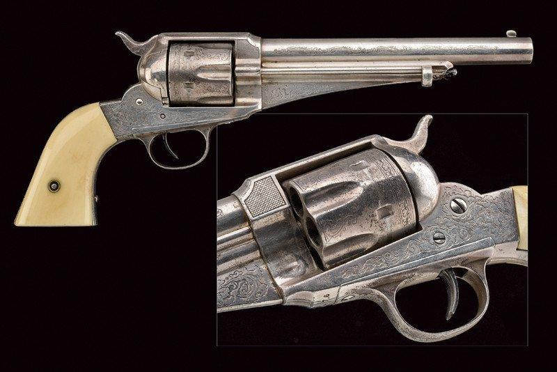 Silver plated custom grade 44 cal. Remington Model 1875