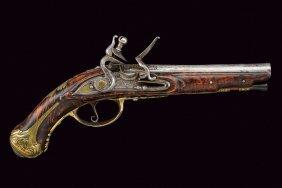 A Beautiful Flintlock Traveling Pistol