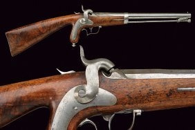 A Very Rare Carbine Pistol Of Delvigne Type By Lesoinne