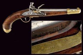 A 1798 Model Cavalry Flintlock Pistol