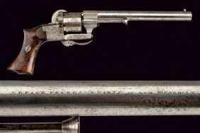 A Fine Pin-fire Revolver By Lepage