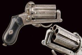 A Pin-fire Pepperbox Revolver