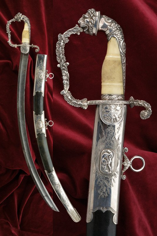 An outstanding silver mounted luxury sabre