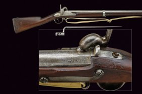 A Model 1822 T/bis Rifle With Bayonet