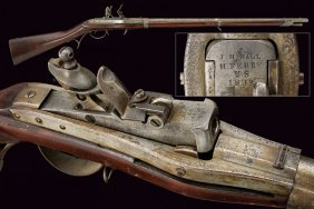 Model 1819 Hall U. S. Breechloading Flintlock Rifle