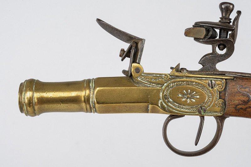 A navy flintlock pocket pistol - 2