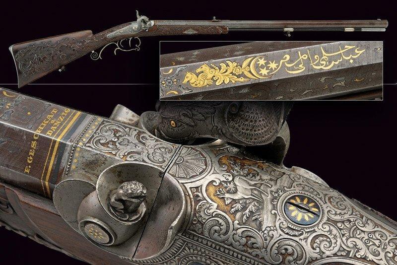 A superb percussion gun by Geschkat in Danzig