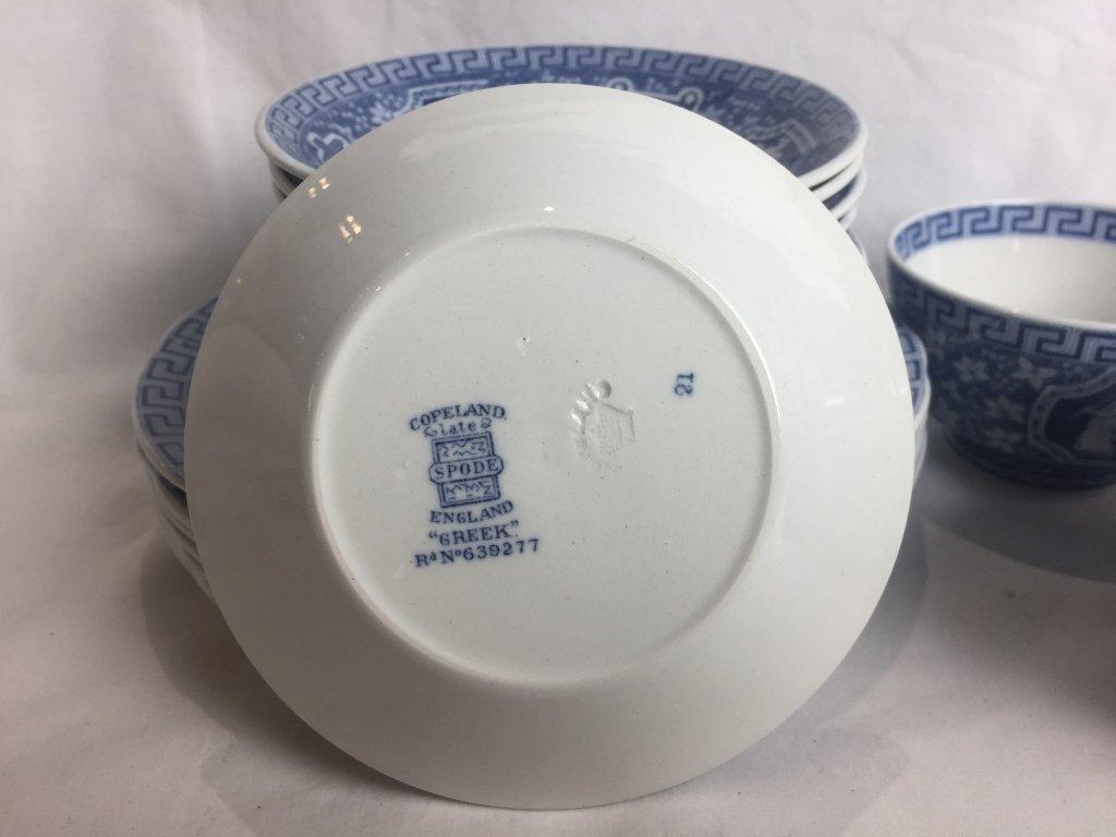 """Partial service of Copeland Spode, """"Greek"""", blue color. - 8"""