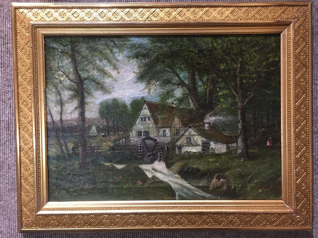 """19th century painting signed: """"E.Ehrenstrom"""""""