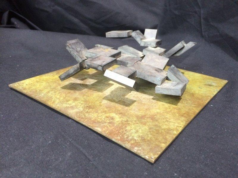 "Bronze sculpture, ""Cubes"", c.1965"