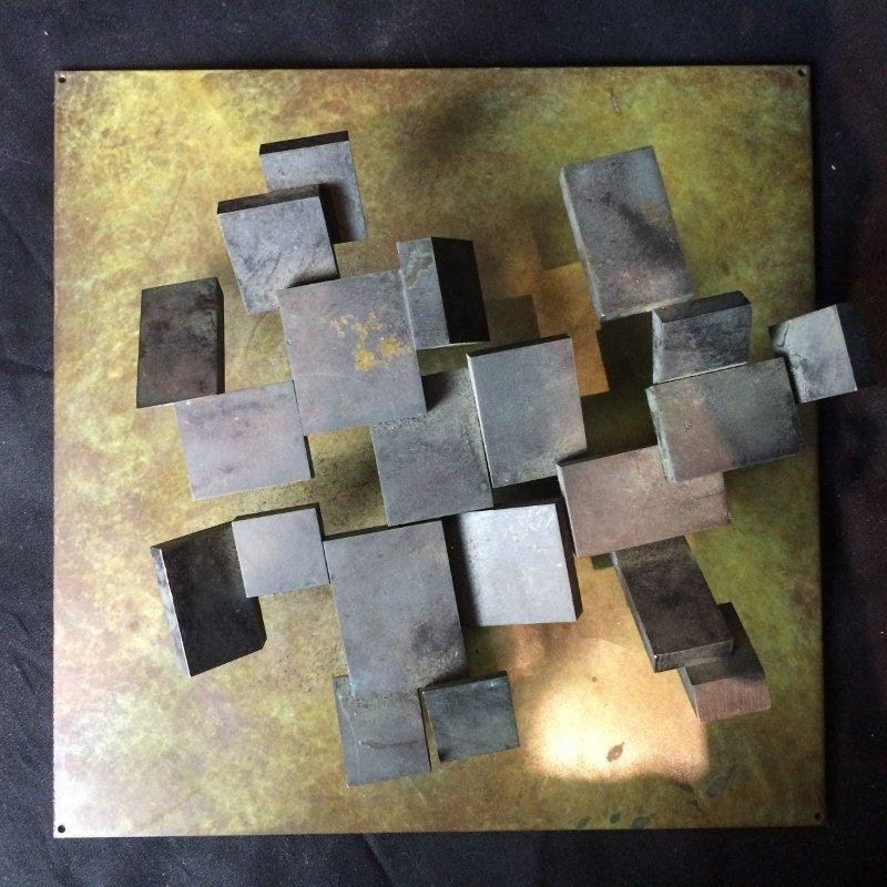 "Bronze sculpture, ""Cubes"", c.1965 - 2"