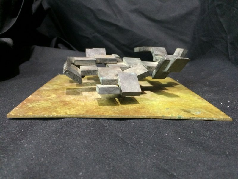 "Bronze sculpture, ""Cubes"", c.1965 - 3"