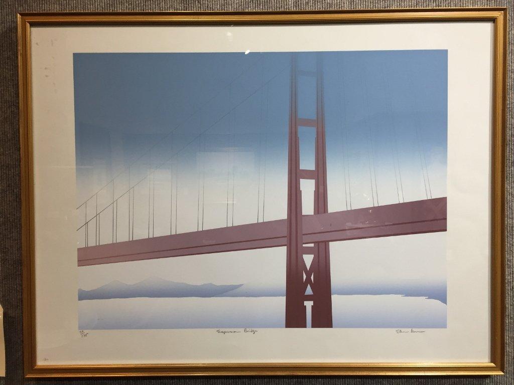 """Suspension Bridge"",numbered print of Golden Gate"