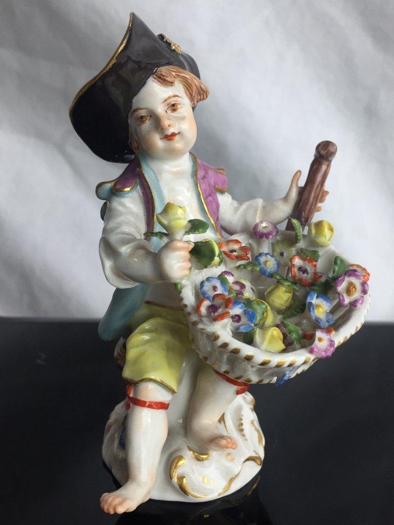 Meissen porcelain figurine of a flower boy