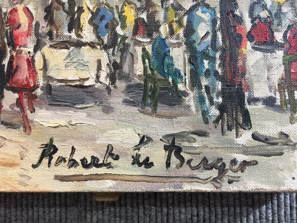 Painting of Paris by Robert Le Berger, c.1965 - 3