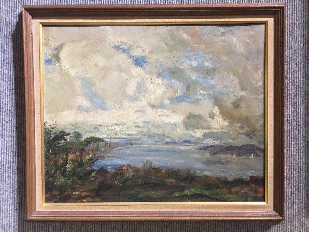 Painting of coast by Gustav Magyar-Mannheimer