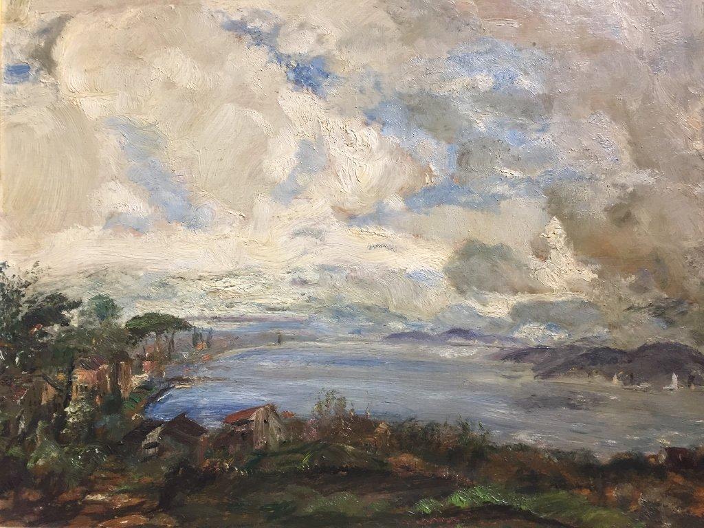Painting of coast by Gustav Magyar-Mannheimer - 2