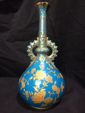Royal Crown Derby vase retailed by J.E.Caldwell, c.1880