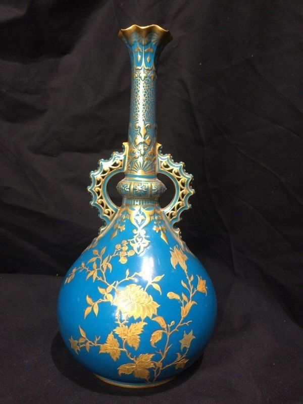 Royal Crown Derby vase retailed by J.E.Caldwell, c.1880 - 3