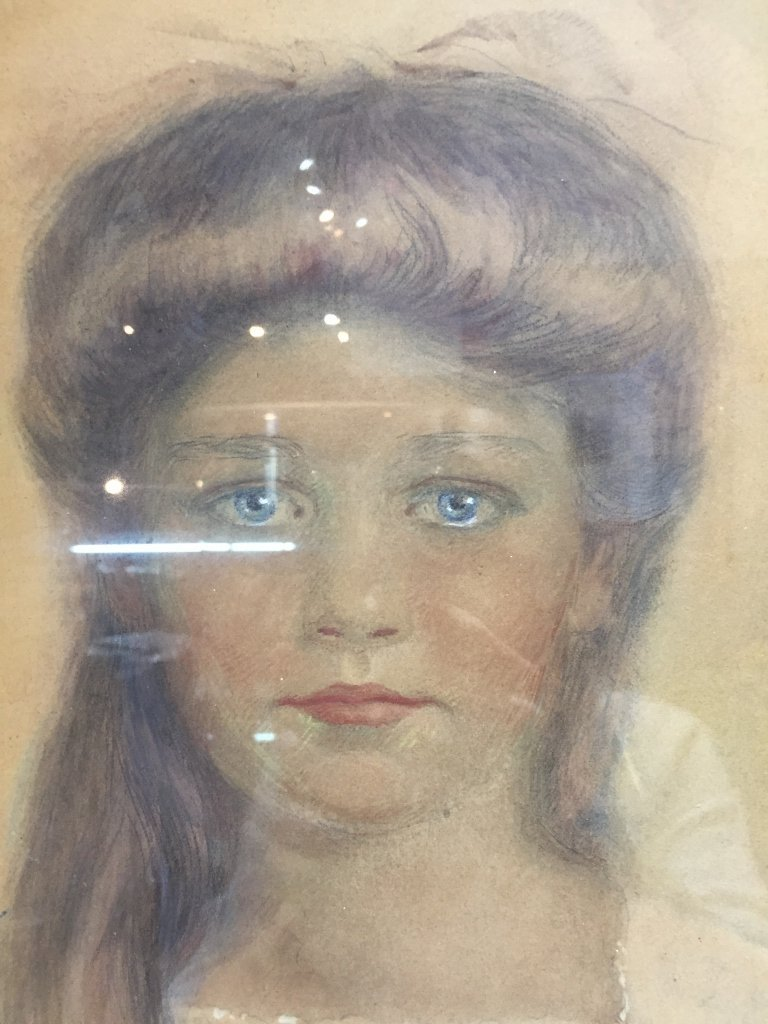Watercolor drawing of girl,Marguerite Savage,d.1912 - 3