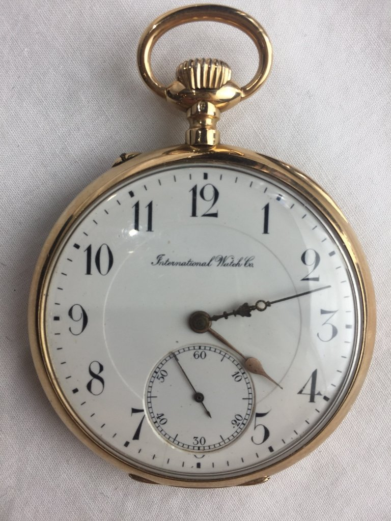 14k gold IWC pocket watch