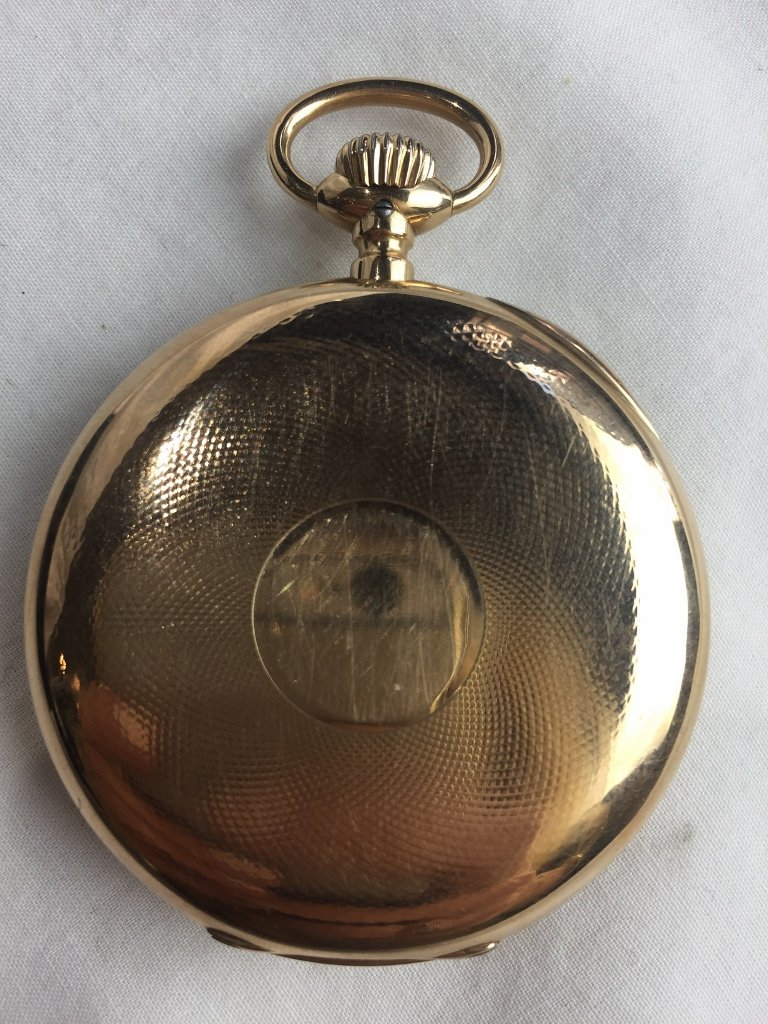 14k gold IWC pocket watch - 2