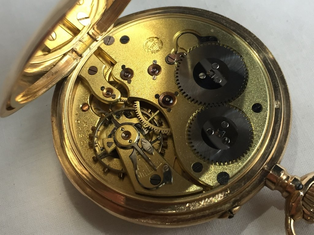 14k gold IWC pocket watch - 6