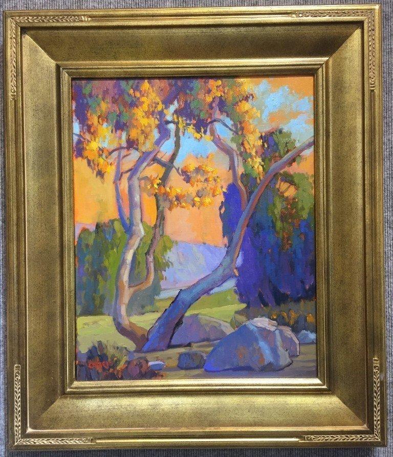 """California impressionist painting, signed """"Orsorio""""."""