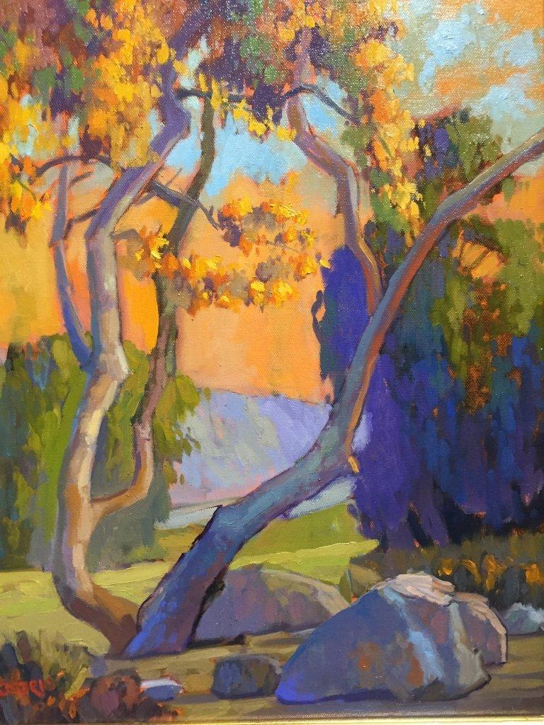 """California impressionist painting, signed """"Orsorio"""". - 2"""