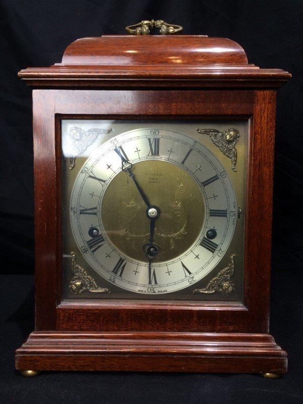 "Tiffany & Co mantel clock, ""Elliot London""."