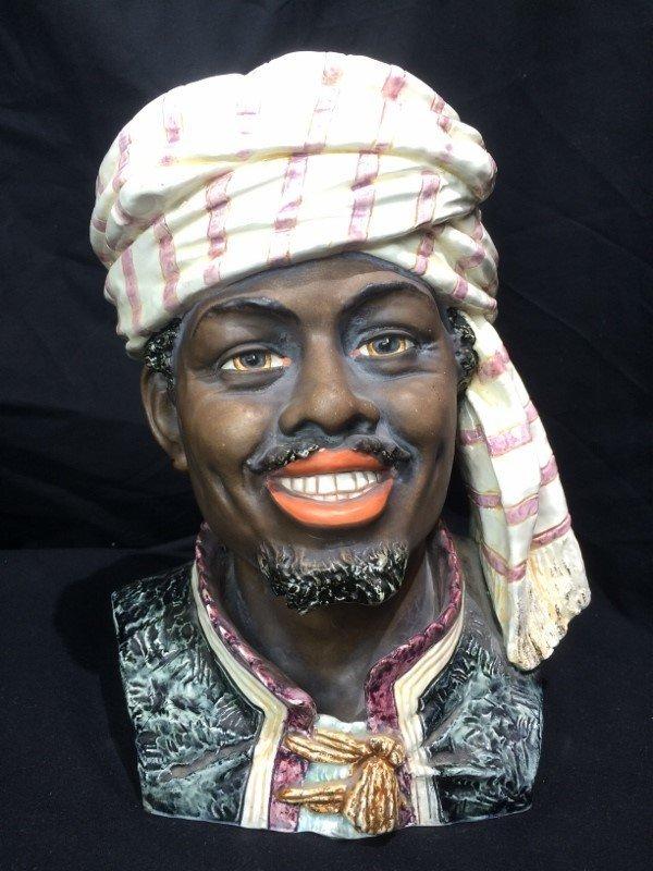 Man with turban jar, c.1880, missing lid