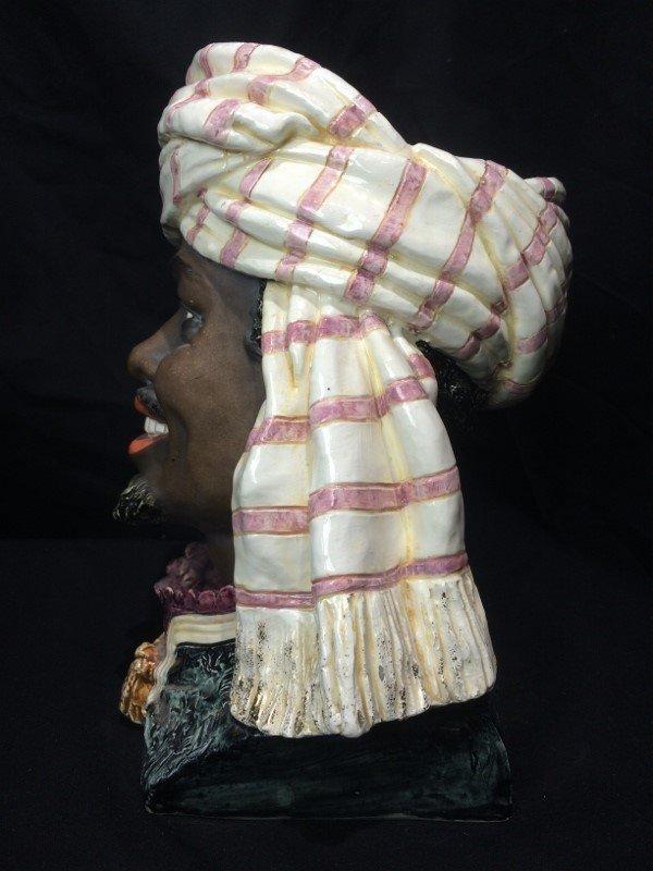 Man with turban jar, c.1880, missing lid - 2