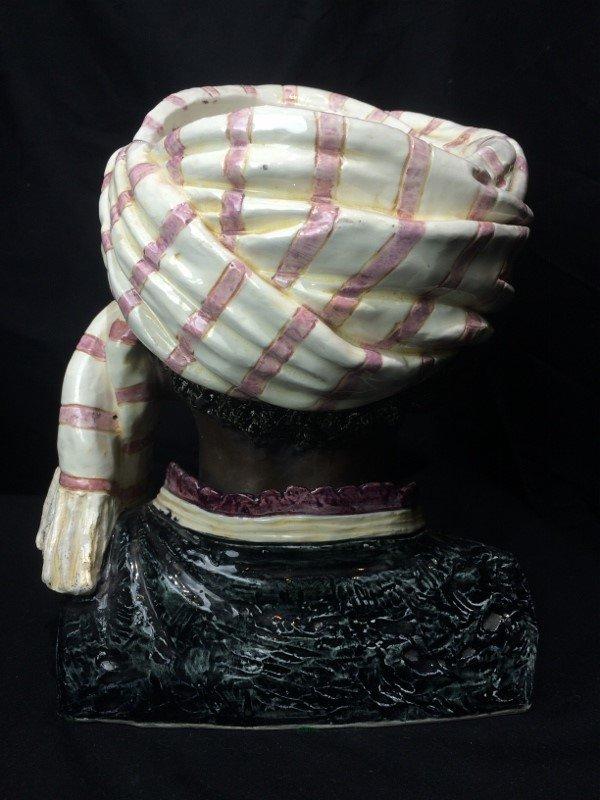 Man with turban jar, c.1880, missing lid - 3