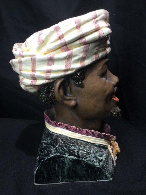 Man with turban jar, c.1880, missing lid - 4