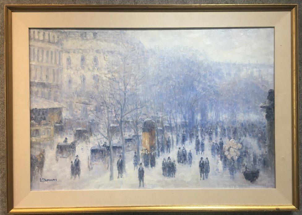 Painting of Paris by Gail Sherman Corbett, 20th c.