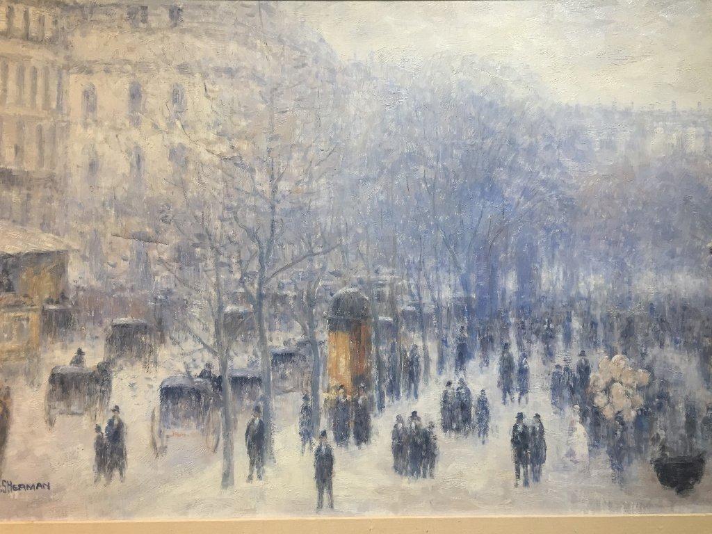 Painting of Paris by Gail Sherman Corbett, 20th c. - 2