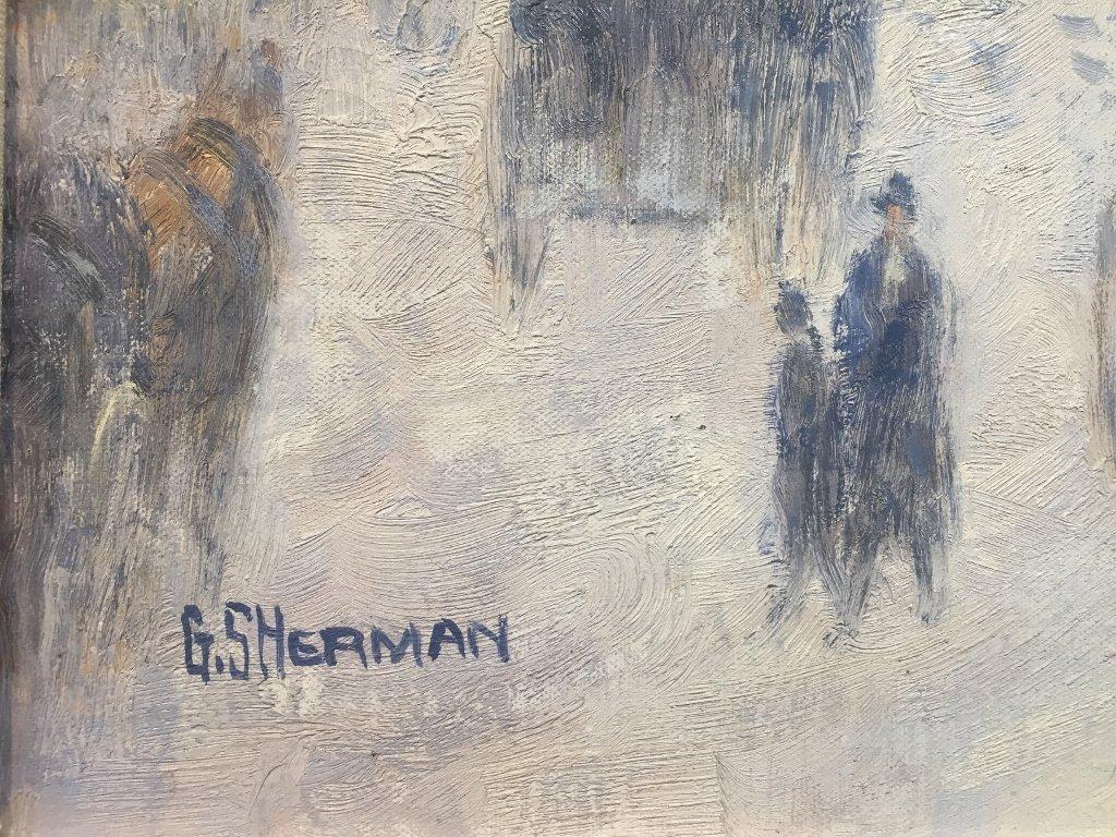 Painting of Paris by Gail Sherman Corbett, 20th c. - 3