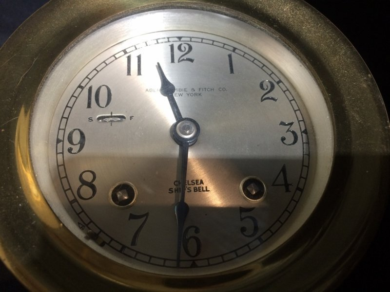 Box lot-Abercrombie and Fitch ship clock - 2