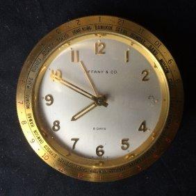 Box lot-Tiffany & Co traveling clock