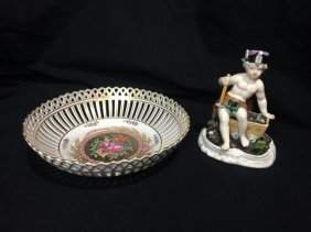 Box lot-European porcelain items