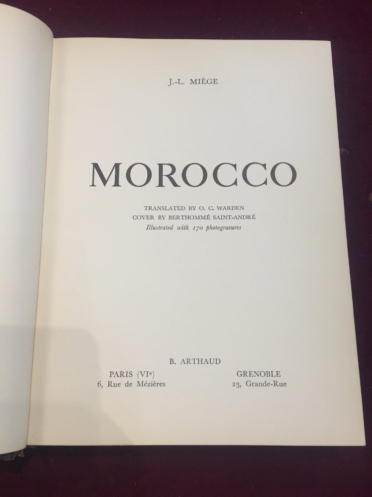 """Box lot-Book:""""Morocco"""",170 photos by Miege, c.1947 - 2"""